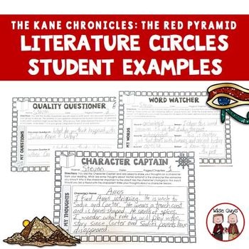 The Red Pyramid  Literature Circles Activities and Projects