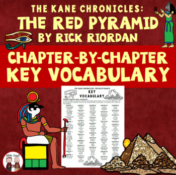 The Red Pyramid Spelling Vocabulary Word Study List