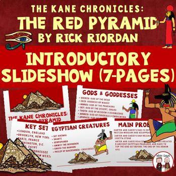 The Red Pyramid Novel Study Unit Bundle on CD