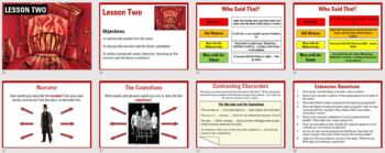 The Red Room teaching resources - Powerpoint, worksheets and plan
