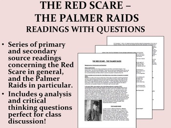 The Red Scare - The Palmer Raids Readings with Questions - USH/APUSH