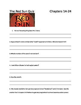 The Red Sun Chapter Quiz 14-24