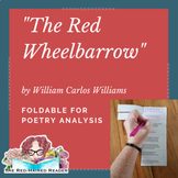 The Red Wheelbarrow by William Carlos Williams Foldable Poetry Analysis Activity