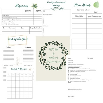 The Reflective Teacher Planner and Binder Editable! 2018-2019 Secondary