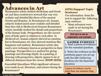 Renaissance Advances Reading Activities