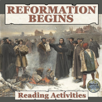 The Reformation Begins Reading Activities