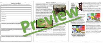 The Reformation Begins Traditional Worksheet and Reading Guide