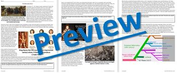 The Reformation Beyond Luther: Reading Guide Worksheet & Questions