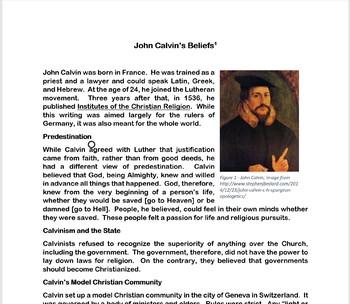 The Reformation: John Calvin