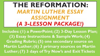 The Reformation Martin Luther Essay Assignment By History Queen The Reformation Martin Luther Essay Assignment