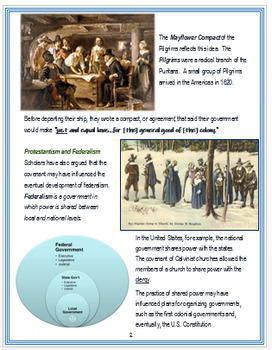 The Reformation - Protestantism - Democratic Practices & Federalism + Assessment