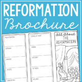 THE REFORMATION Research Brochure Template, World History Project