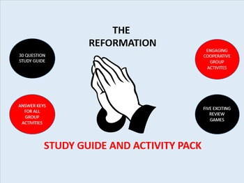 The Reformation: Study Guide and Activity Pack