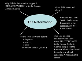 The Reformation and Martin Luther
