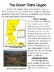 The Regions of Texas: The Great Plains- Integrating Reading and SS