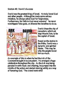 The Reign of King David - Stations Activity