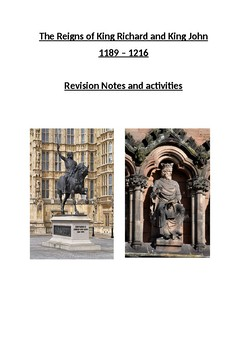 The Reigns of King Richard I and King John 1189 - 1216 - Revision Guide