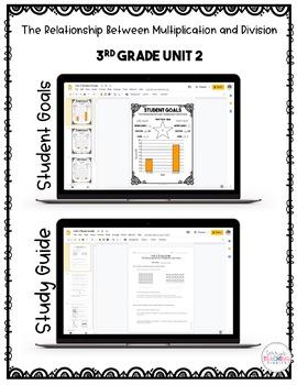 Relationship Bt Mult. & Division Test Pack *3rd Grade Unit 2* {Paperless}