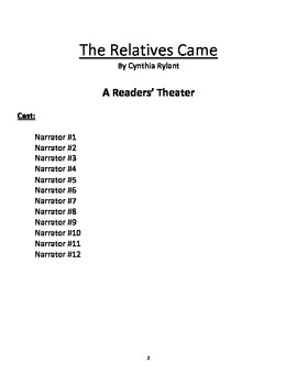 The Relatives Came - A Readers' Theater