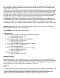 The Relatives Came Guided Reading Lesson Plan