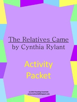 The Relatives Came by Cynthia Rylant Activity Packet