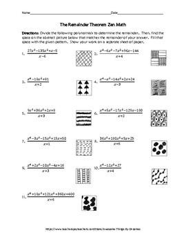 The Remainder Theorem Zen Math