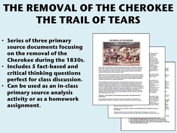 The Removal of the Cherokee - Trail of Tears - USH/APUSH