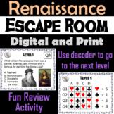 The Renaissance: Escape Room - Social Studies