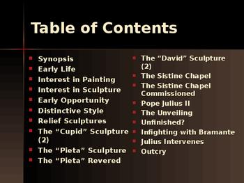 The Renaissance - Key Figures - Michelangelo