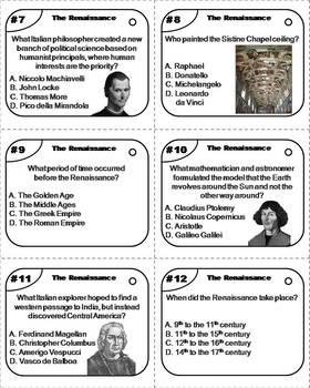 The Renaissance Task Cards