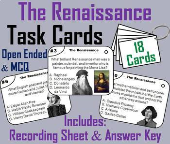 The Renaissance Task Cards and Activities Bundle