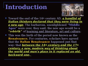 The Renaissance - The Italian Renaissance