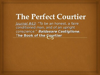 The Renaissance: The Perfect Courtier