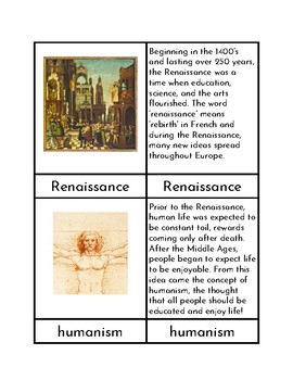 The Renaissance - Three/Four Part Cards