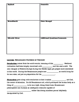 Day 044_The Italian Renaissance and Humanism - Lesson Handout