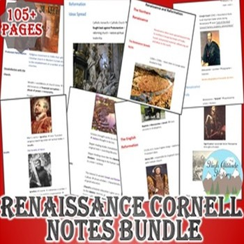 Renaissance and Reformation Cornell Notes *Bundle* (World History)
