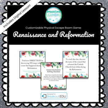 The Renaissance and Reformation (History) Breakout Game (Content Below)