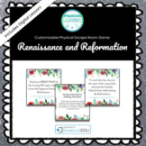 The Renaissance and Reformation Customizable Escape Room / Breakout Game