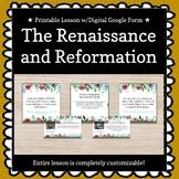 Renaissance and Reformation Customizable Escape Room/Break
