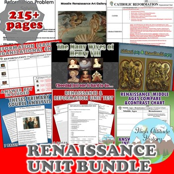Renaissance Unit / Renaissance & Reformation *Unit Bundle*