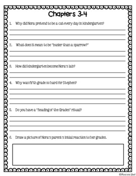 The Report Card - Questions, Vocab, and Response Activities