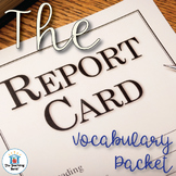 The Report Card Vocabulary Packet