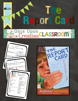 The Report Card by Andrew Clements Literature Unit