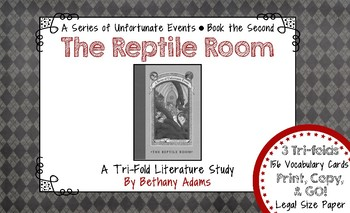 The Reptile Room (A Series of Unfortunate Events) Tri-fold Literature Study