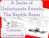 The Reptile Room- Worksheet (Book 2 Series of Unfortunate Events)