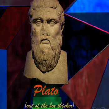 The Republic Plato out of the box thinker poster
