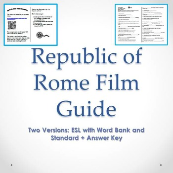 The Republic of Rome Film Guide