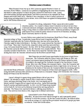 The Republic of Texas Readings and Activities