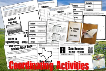 The Republic of Texas/ Sam Houston-  Use with Texas Studies Weekly 19-21