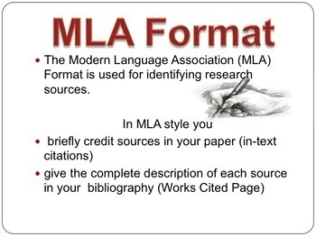 the research paper mla format in text citations and citing sources